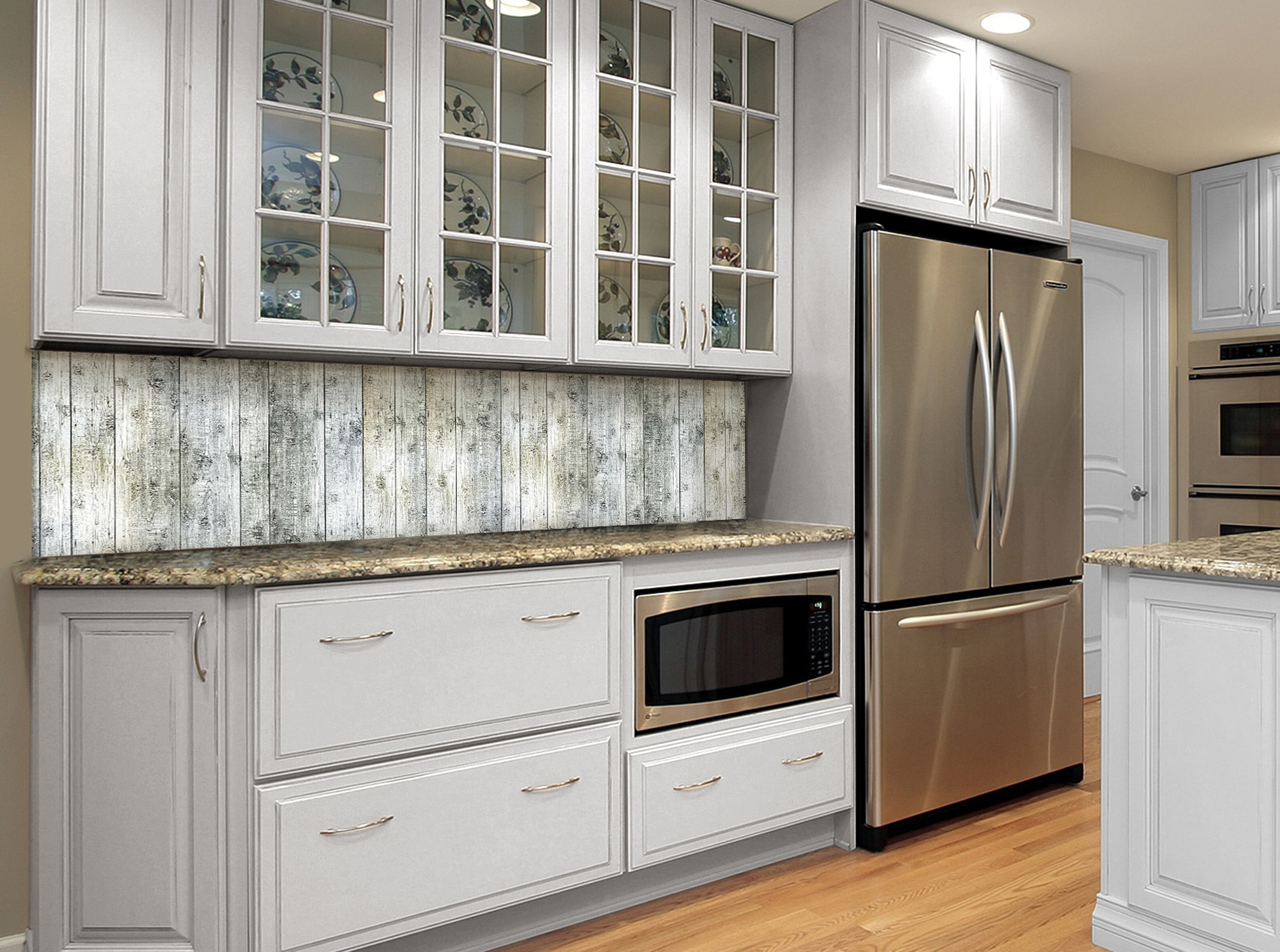 Kitchen with light colored cabinetry